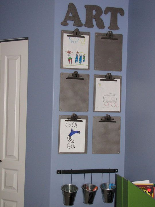 Clipboard Wall Art : Dishfunctional designs organizing decorating with